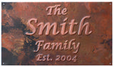 """The Family Name""  Copper Anniversary Sign"