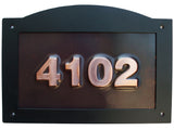 arch top oil rubbed copper address sign