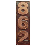 copper address sign block letter vertical