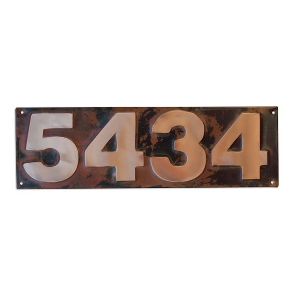 copper address plaque block letter