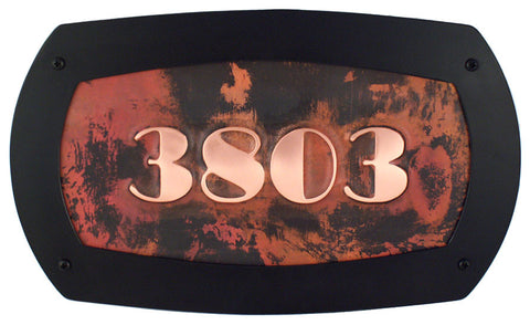 deco font moderne custom copper address plaque