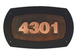 oil rubbed moderne copper address sign