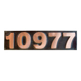 oil rubbed copper address sign block letter