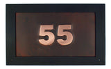 rectangle oil rubbed copper address sign