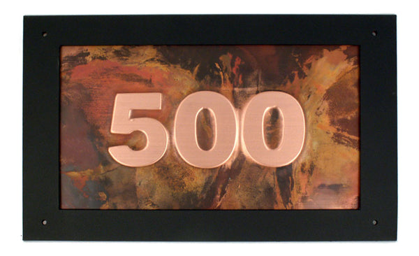 Rectangle Copper Address Sign