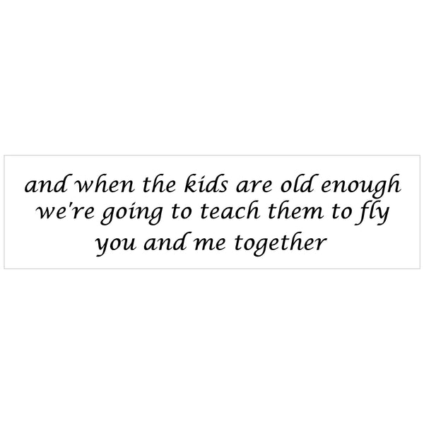 Teach kids to fly