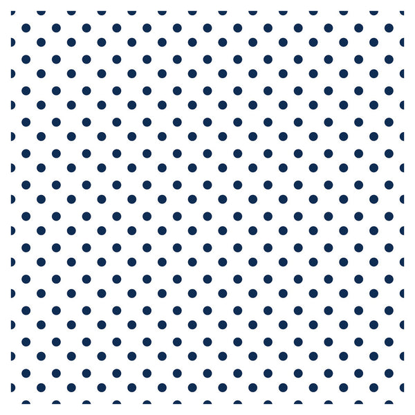 Polka Dot Red Navy Blue Adhesive Vinyl Sheet - Vinyl Boutique Shop