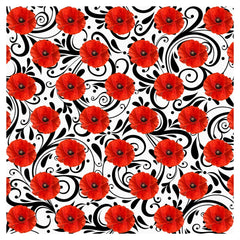Poppy Red Flower Adhesive Vinyl Sheet - Vinyl Boutique Shop