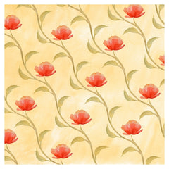 Red Poppy Flower Heat Transfer Vinyl Sheet - Vinyl Boutique Shop