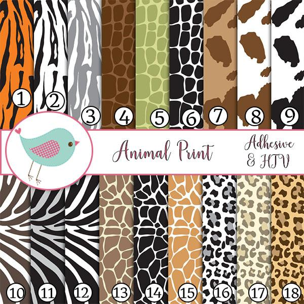 Animal Prints Zebra Cheetah Giraffe Vinyl Sheets Adhesive Vinyl Heat Transfer Craft Vinyl Pattern Vinyl