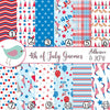 4th of July America Red White and Blue Gnomes Vinyl Sheets Print Adhesive Vinyl Heat Transfer Craft Vinyl Pattern Vinyl
