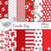 Canada Day Red White Flag Vinyl Print Adhesive Vinyl Heat Transfer Craft Vinyl Pattern Vinyl