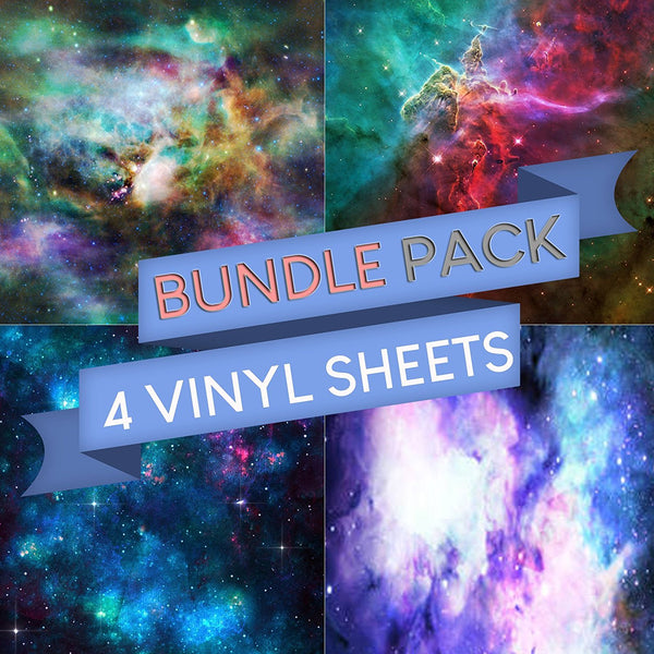 Galaxy Pattern Vinyl Sheets - Pack of 4 - Vinyl Boutique Shop