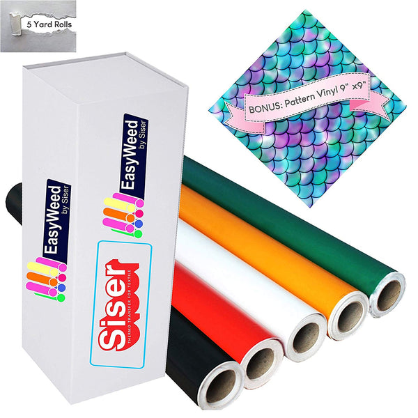 "5 yard Siser EasyWeed Rolls – measures 12""x 5 yards (15 feet) Heat Transfer Vinyl - Vinyl Boutique Shop"