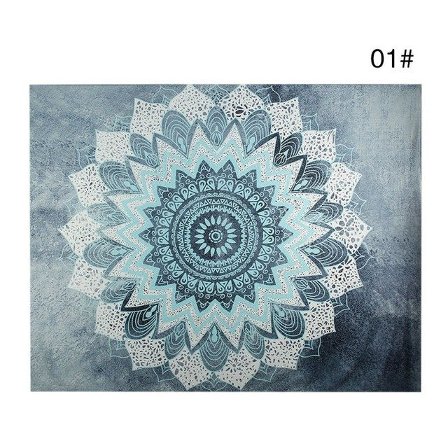 Bohemian Mandala Tapestry Sandy Beach Indian Picnic Rug Throw Travel Mattress Blanket Camping Tent Wall Decor Hanging Tapestries - Vinyl Boutique Shop