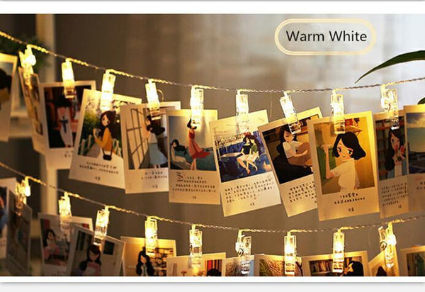 1M 2M 3M Photo Clip Holder led strip LED String lights For Christmas New Year Party Wedding Home Decoration Fairy lights - Vinyl Boutique Shop