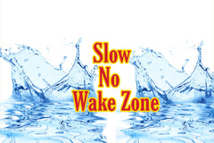 Pier 37 Custom Listing - Slow No Wake Zone Water Splash - Vinyl Boutique Shop