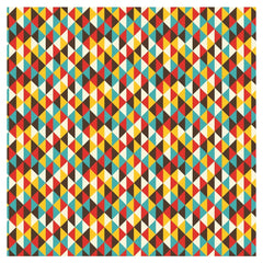 Geometric Buttercup and Ocean Adhesive Vinyl Sheet - Vinyl Boutique Shop