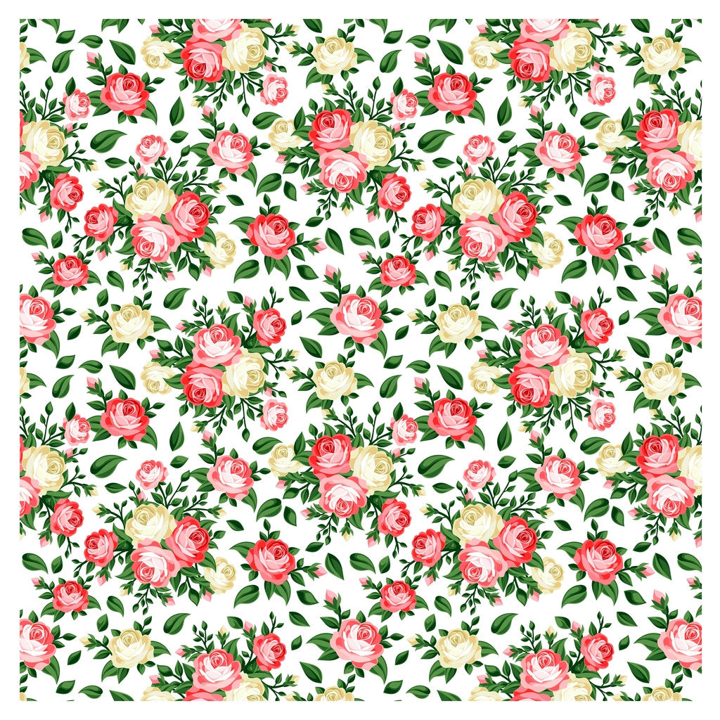 English Roses Adhesive Vinyl Sheet - Vinyl Boutique Shop
