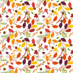Autumn Flowers Adhesive Vinyl Sheet - Vinyl Boutique Shop