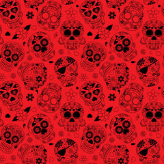 Dead Skulls Adhesive Vinyl Sheet - Vinyl Boutique Shop