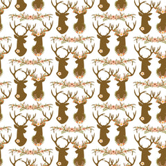 Antler Floral Heat Transfer Vinyl Sheet - Vinyl Boutique Shop