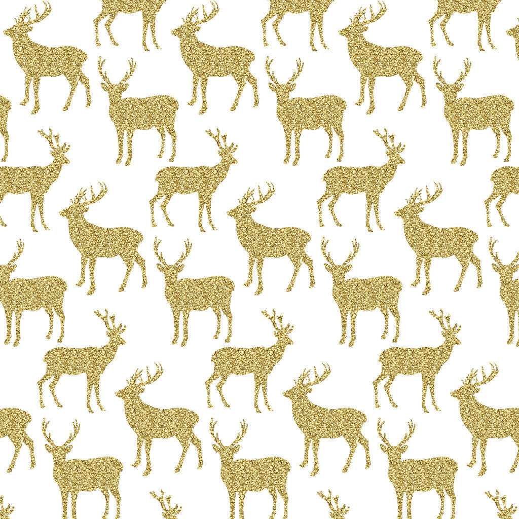 Gold Glitter Antler Heat Transfer Vinyl Sheet - Vinyl Boutique Shop