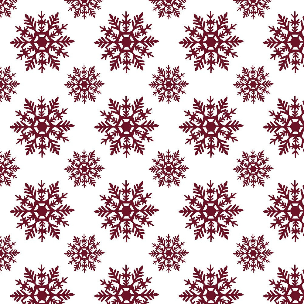 Snowflakes Adhesive Vinyl Sheet - Vinyl Boutique Shop