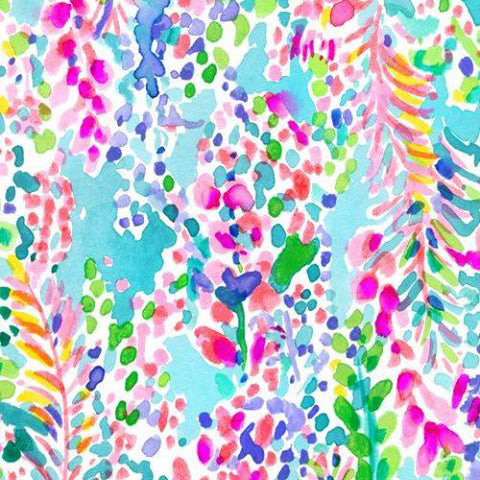 Multi Catch the Wave Lilly Inspired Printed Patterned Craft Vinyl - Vinyl Boutique Shop