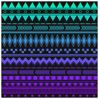 Blue and Purple Dark Ombre Adhesive Adhesive Vinyl Sheet - Vinyl Boutique Shop