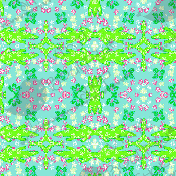 Gator Lilly Inspired Small Scale Vinyl Sheet - Vinyl Boutique Shop