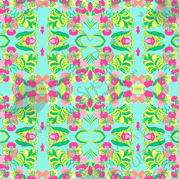 Island Cocktail Lilly Inspired Small Scale Vinyl Sheet - Vinyl Boutique Shop