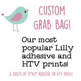 "Custom Grab Bag Our Most Popular Lilly Adhesive Prints, Pack of Six 12""x12"" sheets, Pack A - Vinyl Boutique Shop"