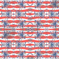 Firecracker Patriotic Lilly Inspired Small Scale Vinyl Sheet - Vinyl Boutique Shop