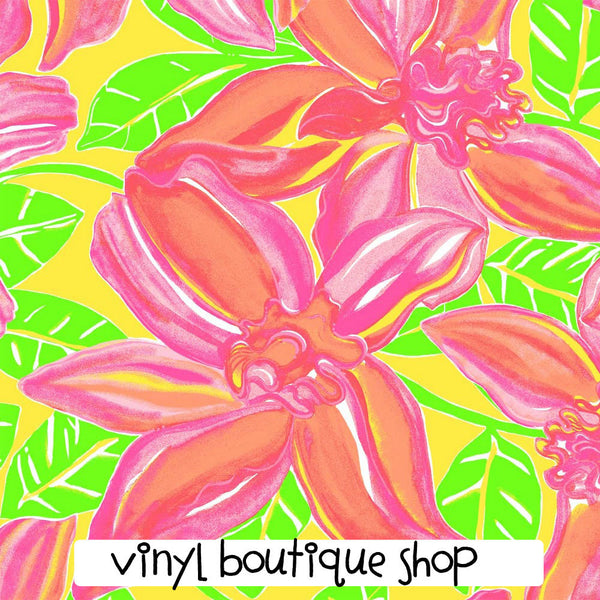 Tropical Beauty Lilly Inspired Printed Patterned Craft Vinyl - Vinyl Boutique Shop