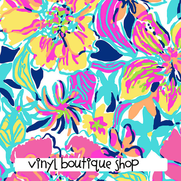 Besame Mucho Lilly Inspired Printed Patterned Craft Vinyl - Vinyl Boutique Shop