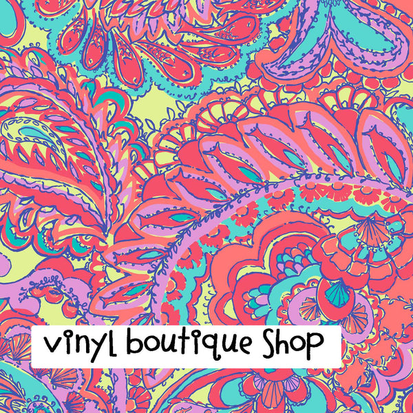 Feeling Groovy Lilly Inspired Vinyl - Vinyl Boutique Shop