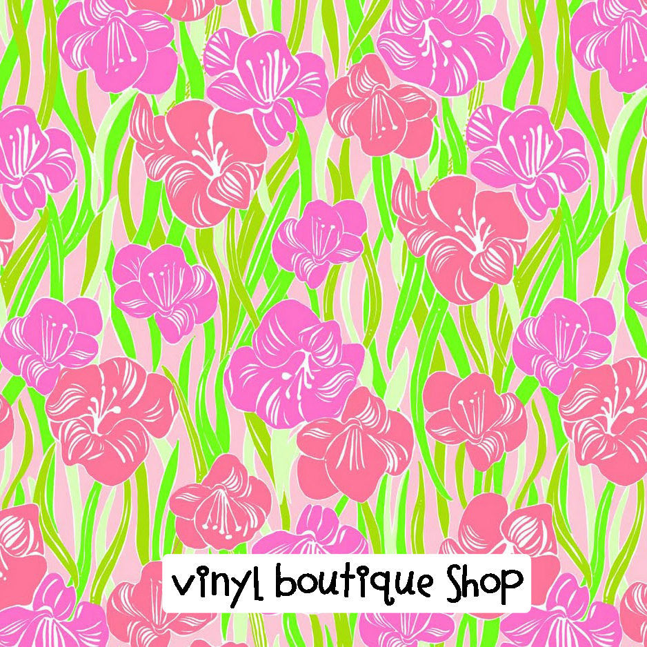 Glady Lilly Inspired Printed Patterned Craft Vinyl - Vinyl Boutique Shop