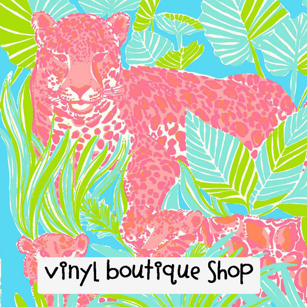 Kitty Lilly Inspired Printed Patterned Craft Vinyl - Vinyl Boutique Shop