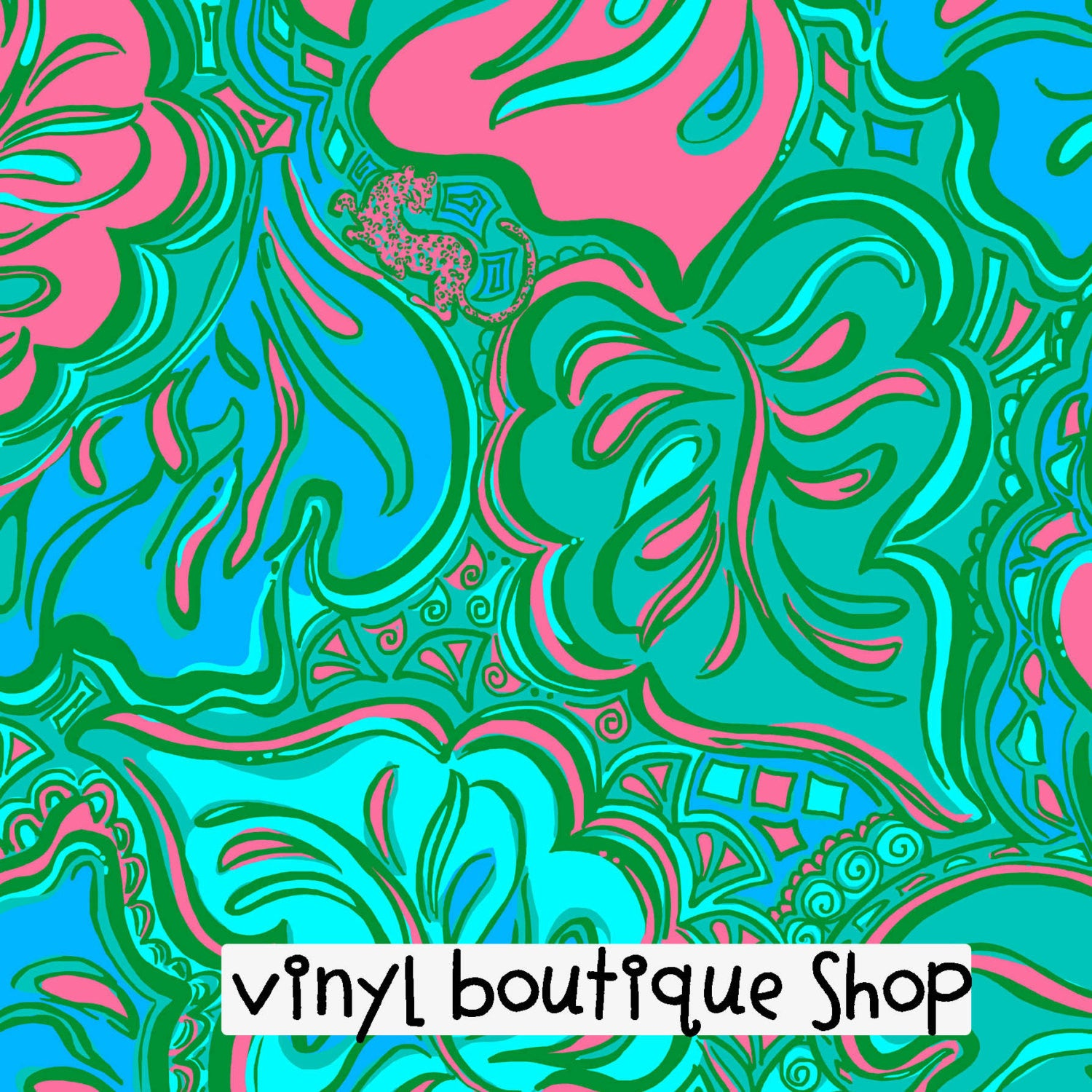 Lilly Lounge Lilly Inspired Printed Patterned Craft Vinyl - Vinyl Boutique Shop