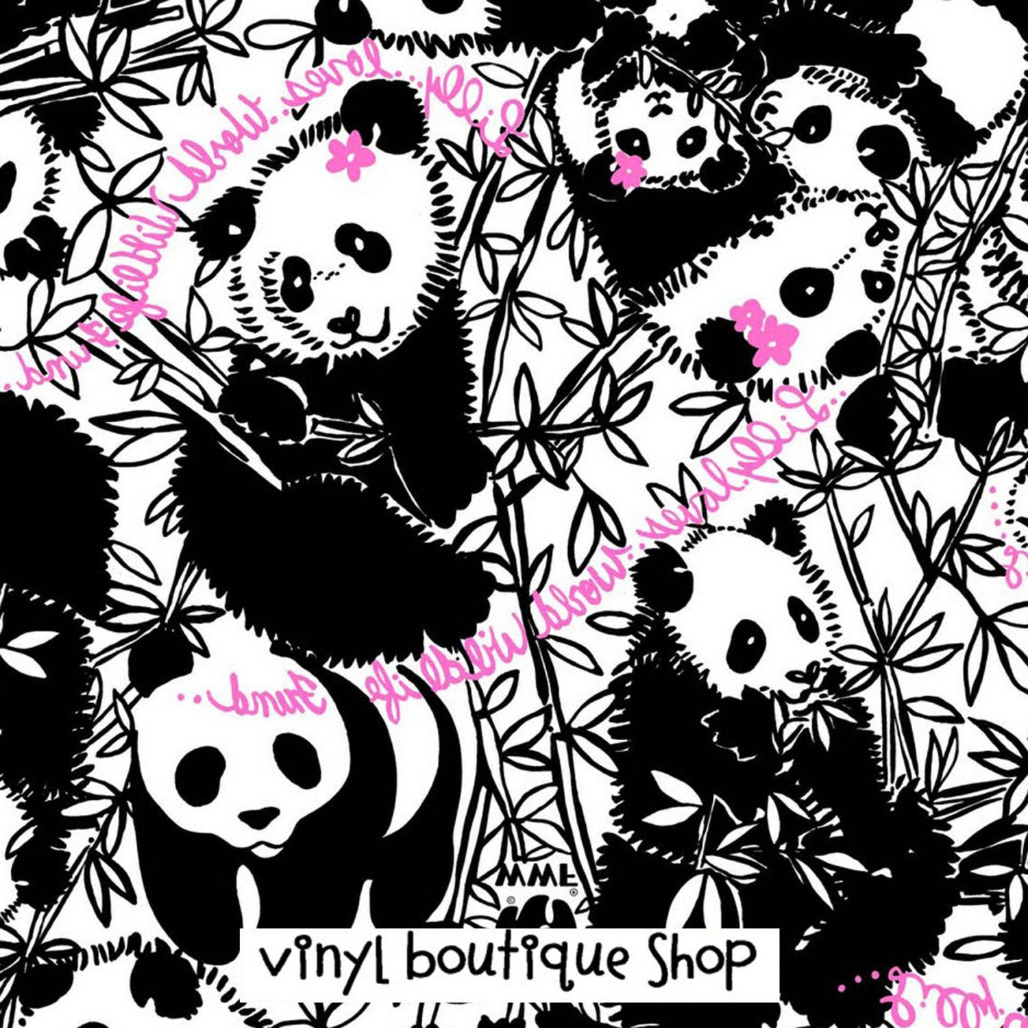 Panda Bear Lilly Inspired Printed Patterned Craft Vinyl - Vinyl Boutique Shop