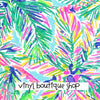 Exotic Garden Lilly Inspired Printed Patterned Craft Vinyl - Vinyl Boutique Shop