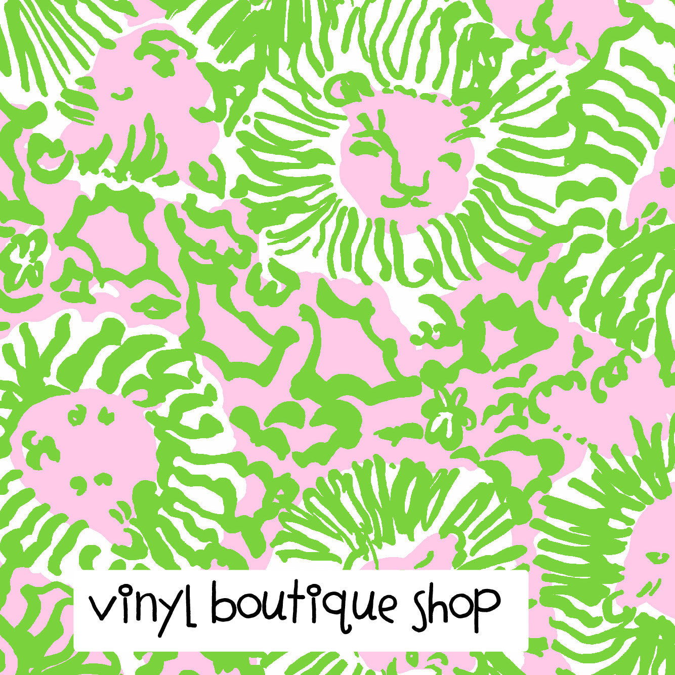 Sunnyside Green Lilly Inspired Printed Patterned Craft Vinyl - Vinyl Boutique Shop