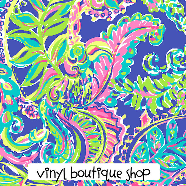 Toucan Play  Lilly Inspired Printed Patterned Craft Vinyl - Vinyl Boutique Shop