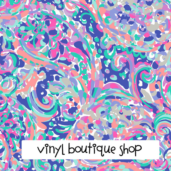 La Playa Lilly Inspired Printed Patterned Craft Vinyl - Vinyl Boutique Shop
