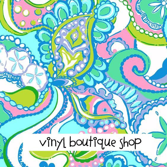 Conch Republic Lilly Inspired Printed Patterned Craft Vinyl - Vinyl Boutique Shop
