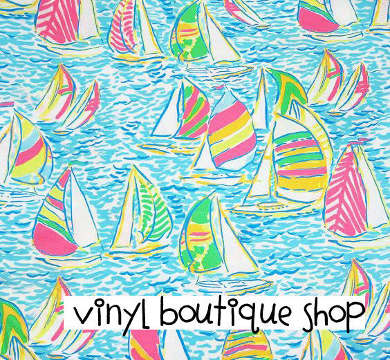You Gotta Regatta Lilly Inspired Printed Patterned Craft Vinyl - Vinyl Boutique Shop