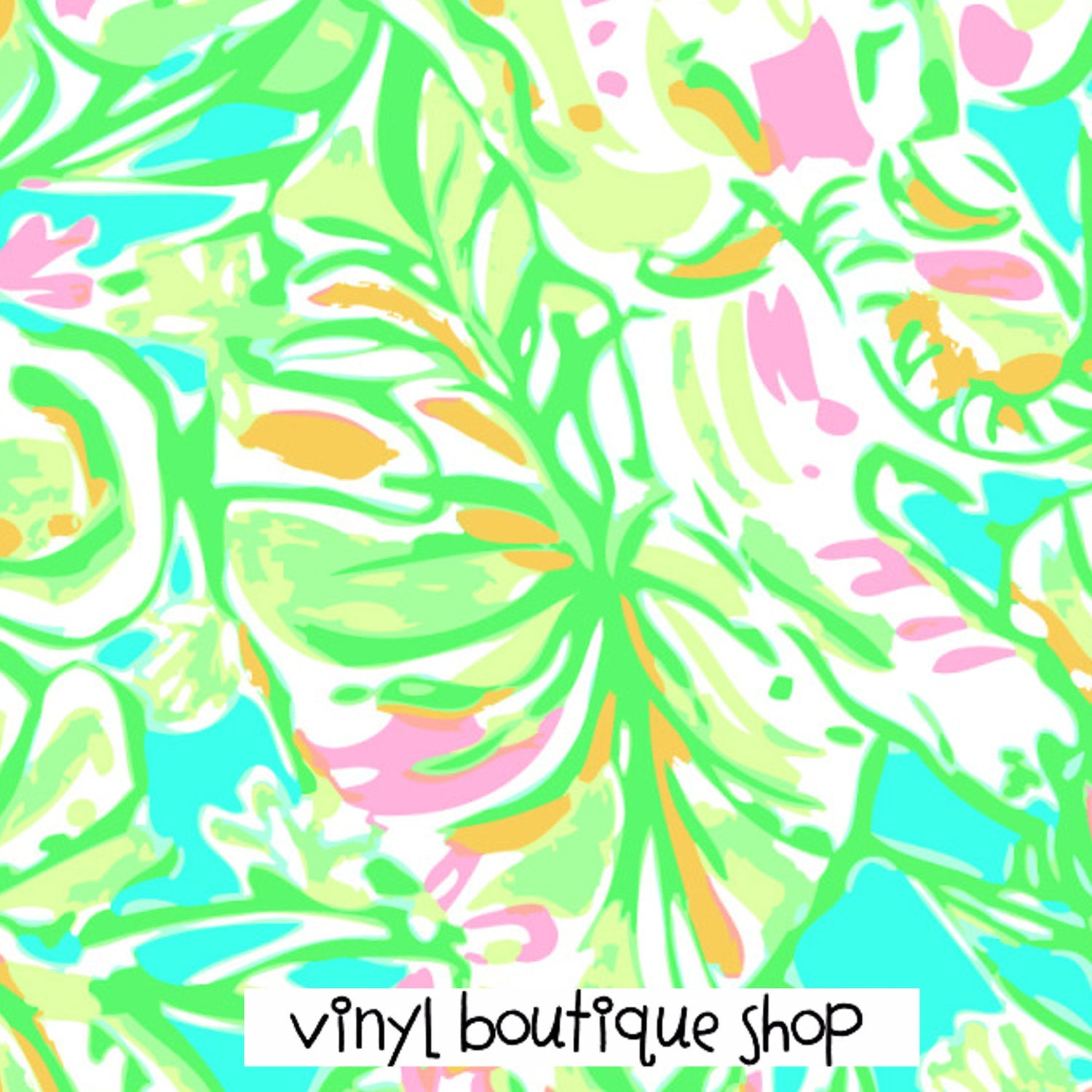 Elephant Lilly Inspired Printed Patterned Craft Vinyl - Vinyl Boutique Shop