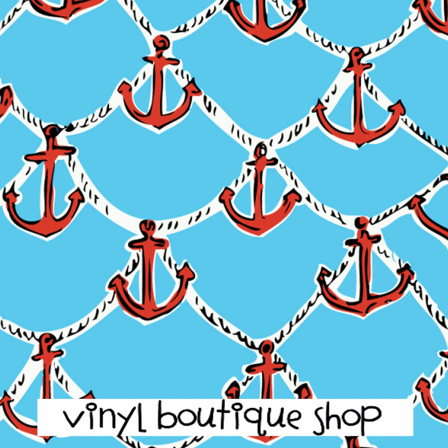 Anchor Patterns Lilly Inspired Printed Patterned Craft Vinyl - Vinyl Boutique Shop