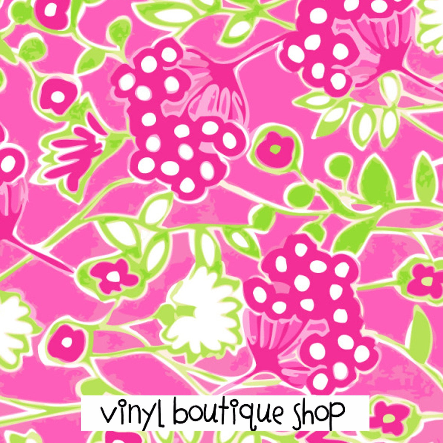 Pink Lilly Inspired Printed Patterned Craft Vinyl - Vinyl Boutique Shop